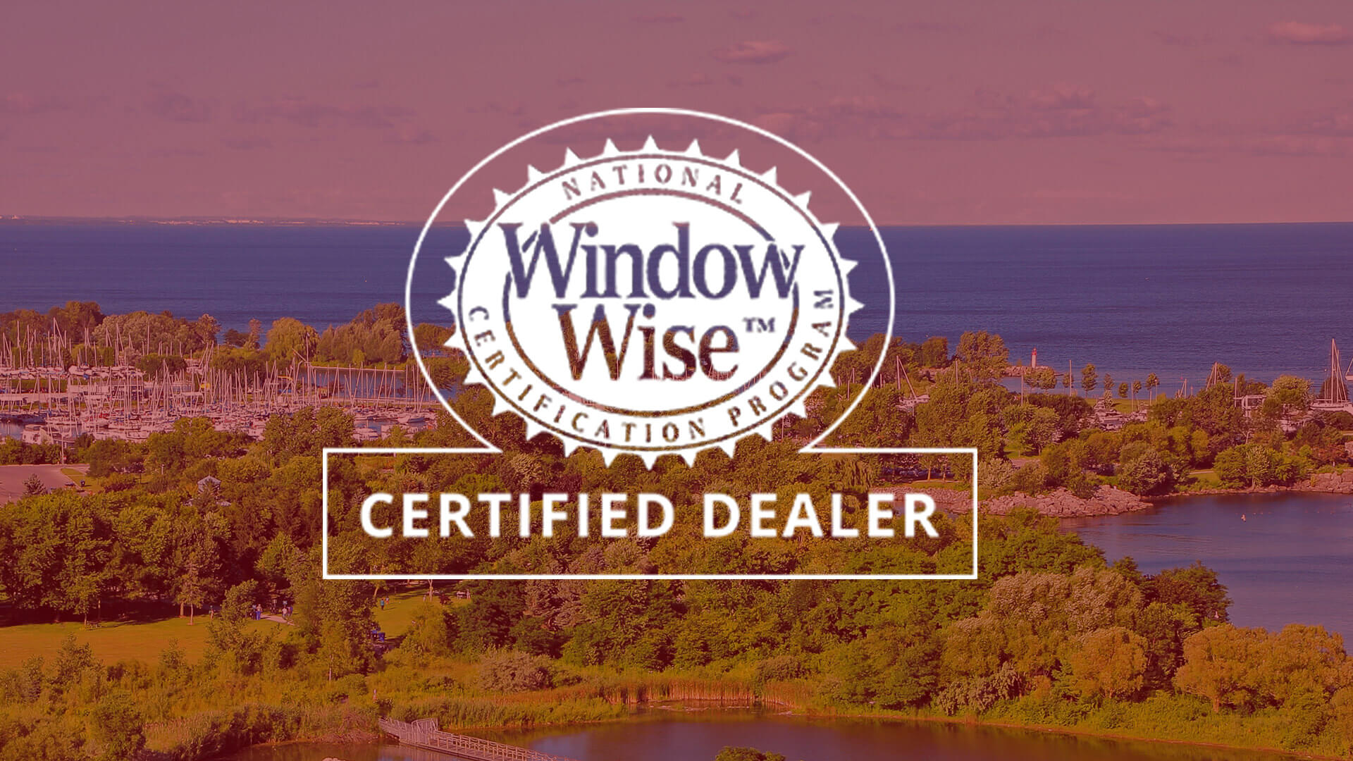 Window Wise Logo Overlayed on an image of a house with high efficiency windows.