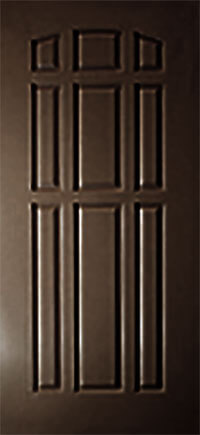 Commercial brown front door