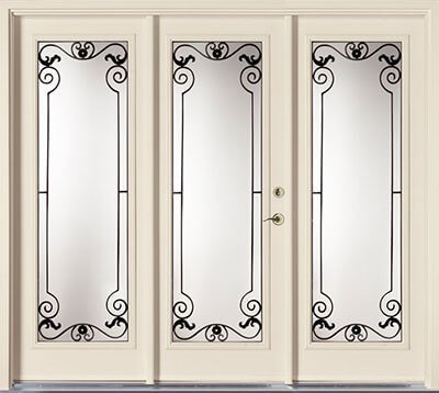 Triple configuration garden doors