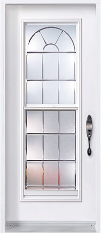 Entry door with full glass insert