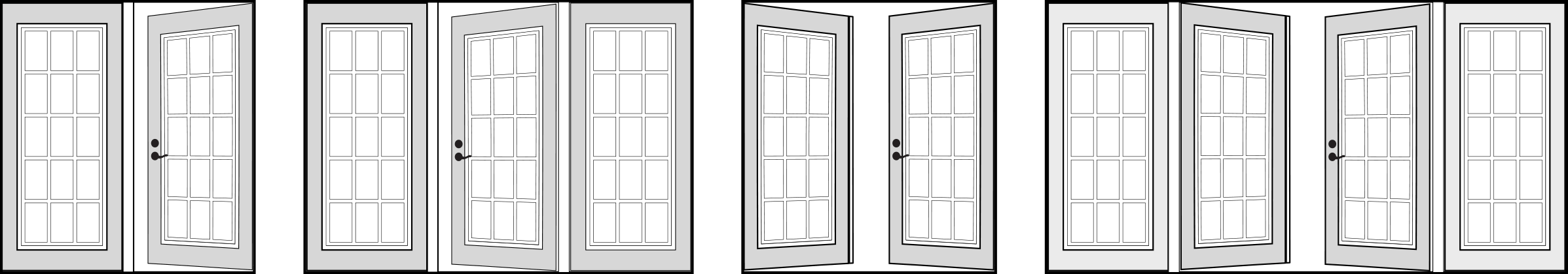 A look at the different garden door configurations offered by Consumer's Choice Window & Doors