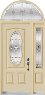 Single door with sidelite and transom