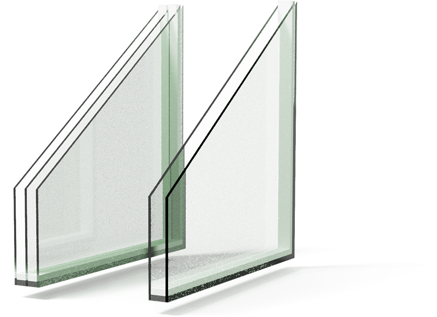 Double pane and Triple pane glass option for replacement window