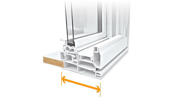 "Consumer's Choice double hung windows feature a 4-1/2"" fusion-welded frame."
