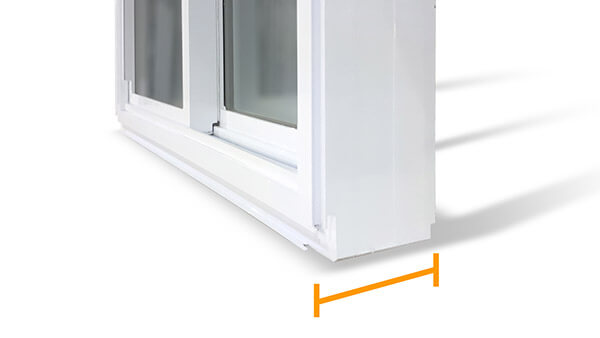 "Consumer's Choice double slider windows feature a 4-1/2"" fusion-welded frame."
