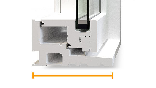 "Consumer's Choice fixed windows feature a 4-1/2"" fusion-welded frame."