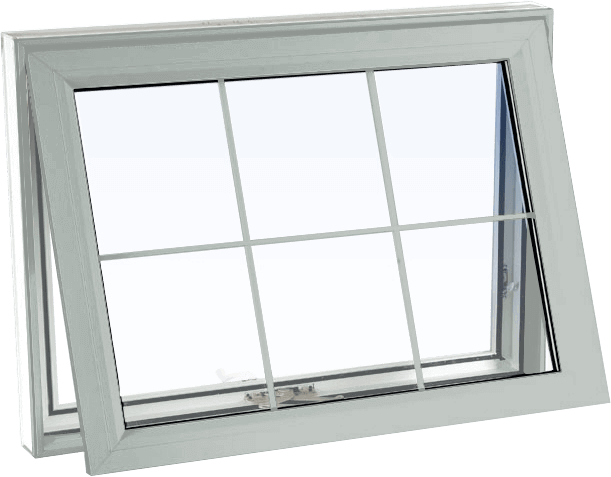Custom dover grey color vinyl replacement awning window