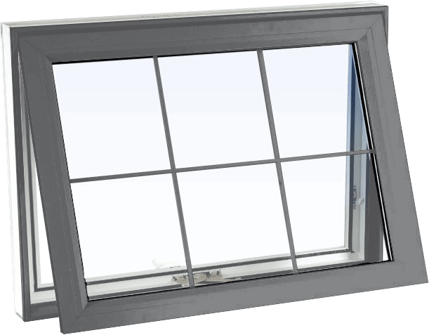 Custom grey color vinyl replacement awning window
