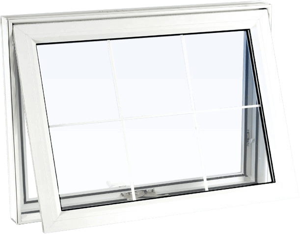 Custom white color vinyl replacement awning window