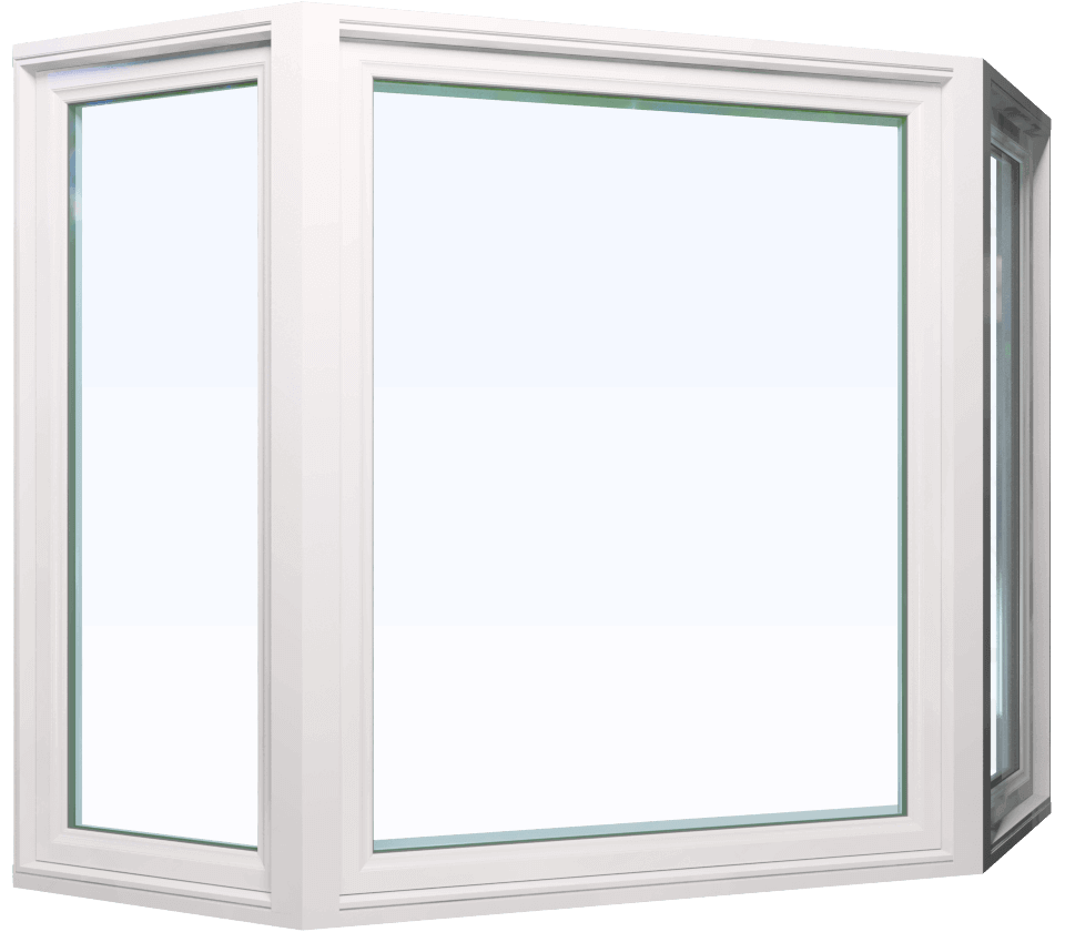 Custom white color vinyl replacement bay window