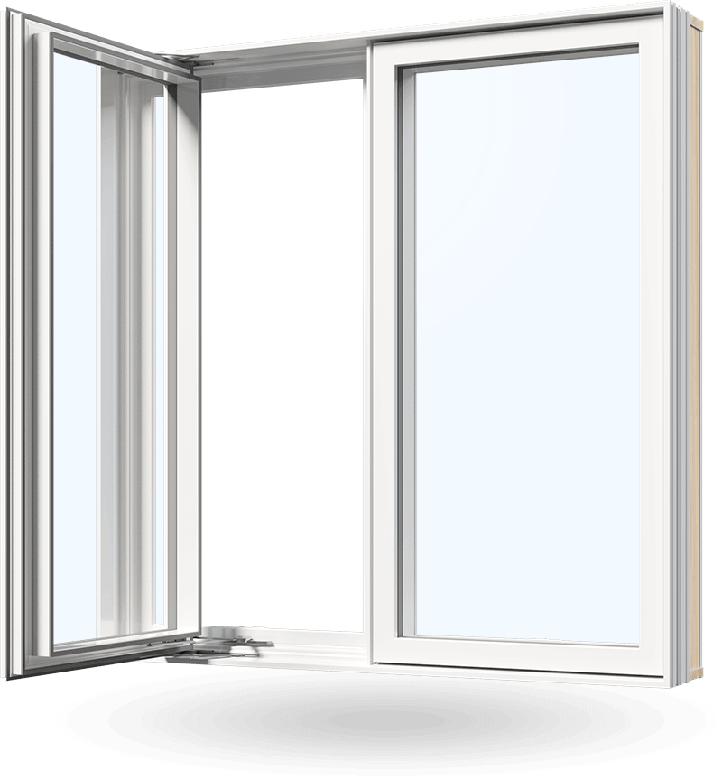 Vinyl replacement casement windows by Consumer's Choice Windows and Doors