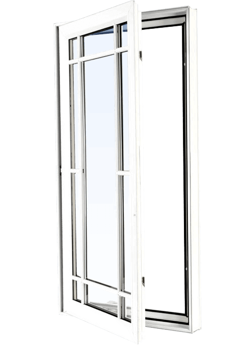 Custom white color vinyl replacement casement window