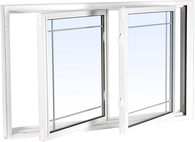 A double tilt sliding window made of PVC (vinyl)