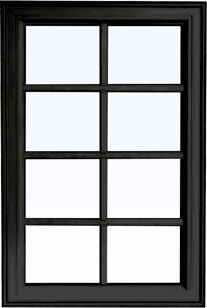 Custom black color PVC fixed shaped window