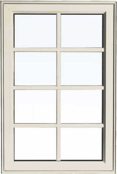Custom cashmere color PVC fixed shaped window