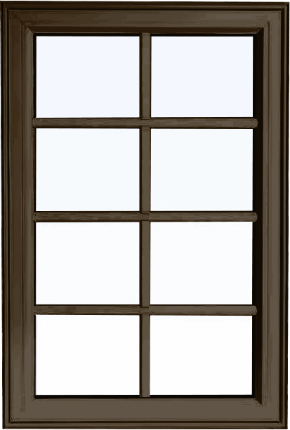 Custom commercial brown color PVC fixed shaped window