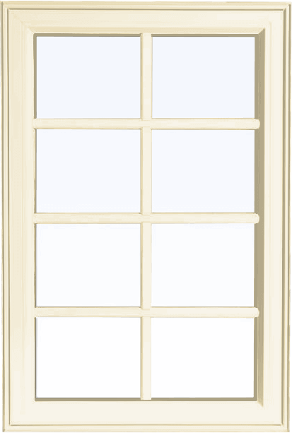 Custom cream color PVC fixed shaped window
