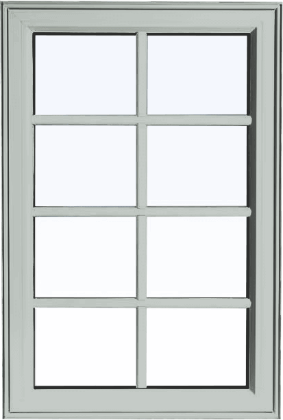 Custom dover grey color PVC fixed shaped window