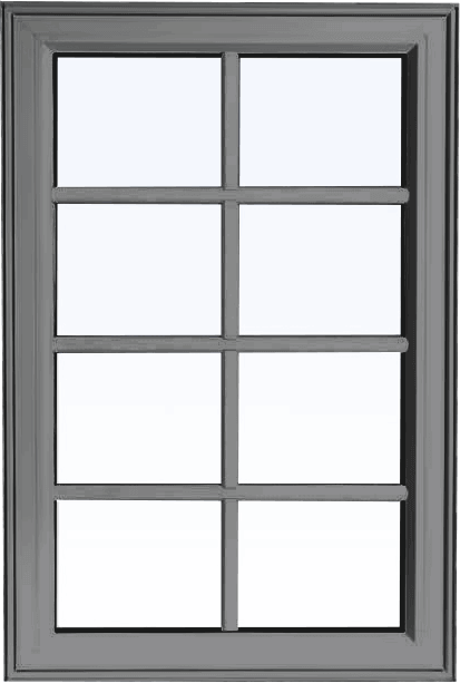 Custom grey color PVC fixed shaped window