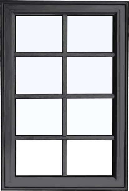 Custom iron ore color PVC fixed shaped window