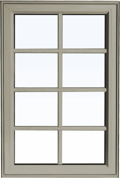 Custom pebble color PVC fixed shaped window