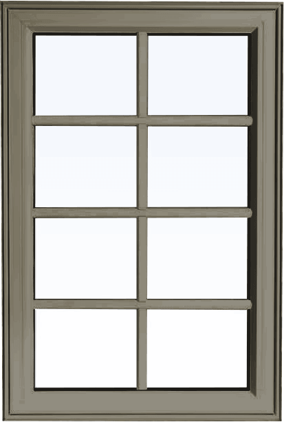 Custom sable color PVC fixed shaped window