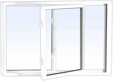 A replacement single tilt slider window made of PVC