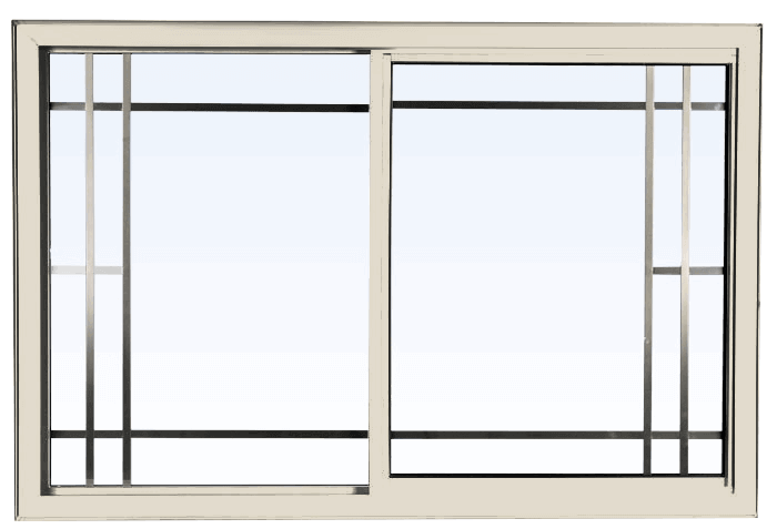 Custom cashmere color vinyl replacement sliding window