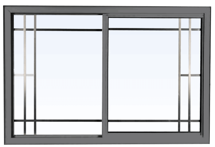 Custom grey color vinyl replacement slider window