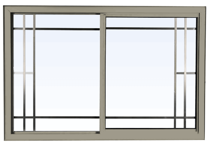 Custom pebble color vinyl replacement sliding window