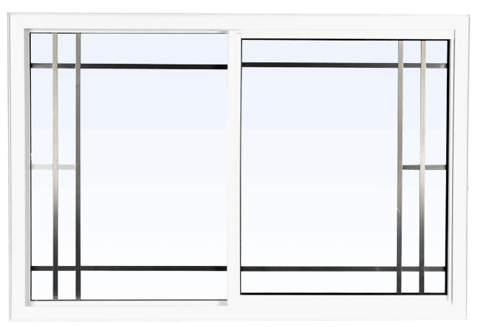 Custom white color vinyl replacement slider window